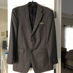 NWT Jos. A. Bank 40L Tailor Fit Olive Check Blazer